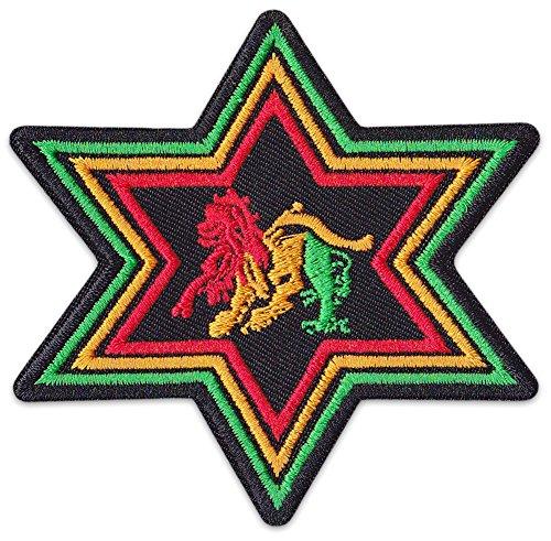 Afrika-patch (Lion of Zion Aufnäher Aufbügler Patch Löwe Judah Reggae Äthiopien Afrika Irie Party Festival (Klein ))
