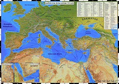 Imperium Romanum 211 AD: Karte des Römischen Reiches (gerollt)