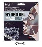 Kiss Maschera Viso in Hydro Gel Astringente e Purificante al Carbone - 3 Confezioni da 1 x 30 ml