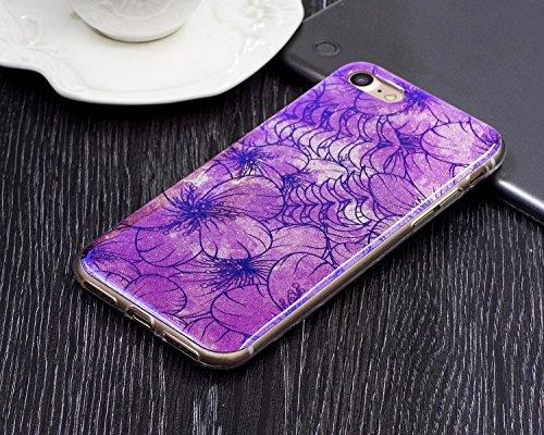 EKINHUI Case Cover Für Apple IPhone 7 Fall, ultra dünnes leichtes Gewicht-Luxuxlicht-TPU Silikon-Gel-schützende rückseitige Abdeckung ( Color : A ) F