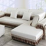 DW&HX Four seasons universal Polyester Sofa slipcover möbel protector für hund,3 sitze Gesteppter Volltonfarbe Verdicken sie Sofaüberwurf Anti-rutsch-B 24x47inch(60x120cm)