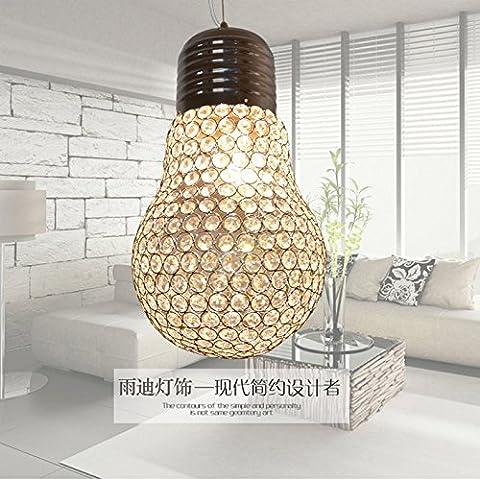 Ancernow caldo retrò creativo E27 Edison lampade a sospensione Crystal per il soggiorno, camera da letto, camera per bambini, bar, caffetteria, ristorante,Rr1663#,Grande,gold