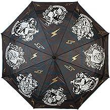 Harry Potter Hogwarts Casas paraguas cresta escudo con efecto de Aqua Ø96cm negro