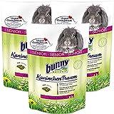 3 x 4 kg= 12 kg Bunny Kaninchen Traum Senior Futter für Zwergkaninchen ab 6 Jahre