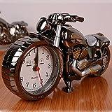 Skyzonal New Quarz Analog Reise Schreibtisch Wecker Zeit Motorrad Modell batteriebetrieben Home Office Geschenk