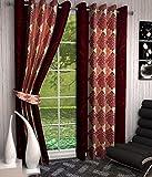 Optimistic Home Furnishing- -Dmsk -Door Curtain-(set of 2)
