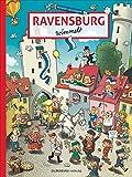 Ravensburg wimmelt. Wimmelbuch für Kinder und Erwachsene u. a. auf Marienplatz und Christkindlesmarkt, bei der Fasnet und beim Rutenfest. Mit vielen kleinen Geschichten zum Entdecken.