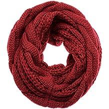 6c410096d079 Atmoko Écharpe Cercle en Tricot à Crochet Twist Foulard Tricoté Hiver  Automne Printemps à la Mode