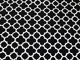 Lattice Geometrische Print Baumwolle Canvas Stoff schwarz &