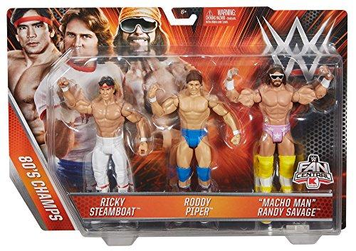 WWE Basic Figure 3 Pack Action Figure - Ricky Steamboat Roddy Piper Macho Man Randy Savage
