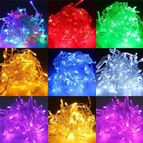 Bluelover 5 M Batteria Alimentato LED Funky Il Twinkling Lampada Fairystring Lights-Giallo