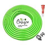 CINAGRO Long Lasting Flexible Garden Foam Hose Pipe (Length: 15meters - Size: 1/2 inch) for Garden, Car Wash, Floor Clean, Pe