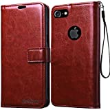Bracevor Apple iPhone 7 4.7 inch Premium Leather Case Flip Cover | Foldable Stand | Wallet Card Slots - Executive Brown