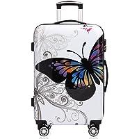 Valise Rigide Butterfly avec Cadenas à Combinaison - Taille L - Voyage Vacances