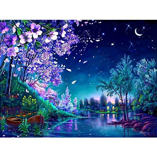 zxddzl Malerei Digitale Landschaft Acrylmalerei modernes Bild Dekoration 4 40 * 50cm