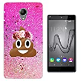 002414 - Emoji Smiley Face Floral Poo Princess Design Wiko