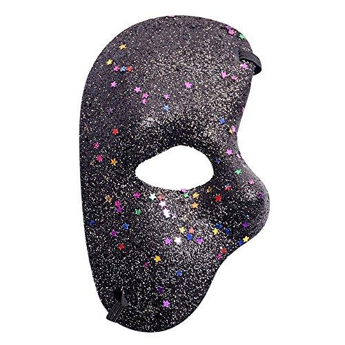 Kostüm Zubehör Fifties - Maskenball Masken Damen, QHJ Maskerade Maske Halloween Ausschnitt Prom Party Maske Zubehör Weihnachtsfeier, Karneval, Cosplay-Party (A)