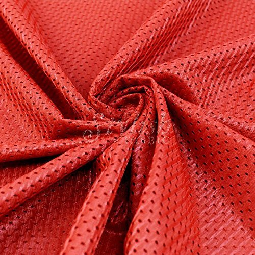 Cherry Rosette (Cherry Red Satin Rosette Fabric by the Yard - 1 Yard by Stylishfabric)