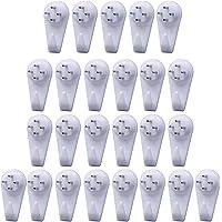 Art Street Hard Plastic 4-Pin Seamless Nail for Photo Frame Wall Picture Frame Hooks Hangers (White) - Set of 25