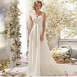 HAPPYMOOD Vestido de novia Vestido de novia Vestido elegante Ropa de boda Tacón alto Material suave , XXL