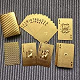 Wasserdichtes Design goldene Spielkarten langlebig verwendung goldfolie Poker Spielkarten spieltisch Spiele(Gold) Jasnyfall