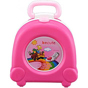 da880566e14 DHOUTDOORS Kids Toddler Toilet Portable Travel Potty with Carry Handle Pink