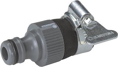 GARDENA Wasserdieb: Universal Wasserhahn-Adapter zum Anschluss des GARDENA Gartenschlauchs an einen Wasserhahn ohne Gewinde mit 14–17 mm Außendurchmesser, korrosionsbeständig (2908-20)