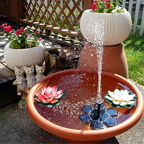 Jardin fontaine solaire