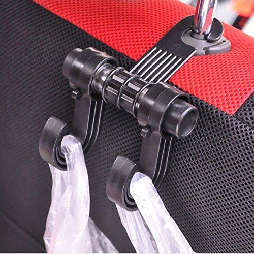 HuaYang Huayang dubbelkrok bil bil bilbarnstol nackstöd klädhängare krok Shopping Bag Holder