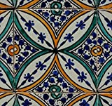 Orientalische Keramik Fliesen handbemalte marokkanische Motiv Fliese SABA 10 x 10 cm