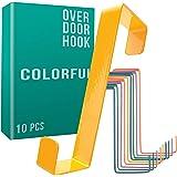 Crochets de porte 4smile – Kit 10 pièces, en couleur – patère pour porte – crochets en couleurs avec coussinets protecteurs -