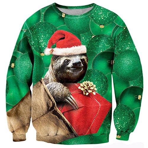Bfustyle Frauen Mädchen Hässliche Weihnachten niedlich Sloth Pullover Pullover Pullover