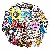 MMilelo Vinyl Aufkleber 50 Stück Wasserdicht Graffiti Decals Stickerbomb für Auto, Skateboard, Koffer, Motorräder, Fahrräder, Boote, Laptop, Snowboard Gepäck und Glatte Oberfläche (H06)