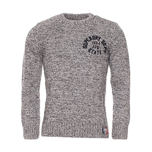 Superdry -  Maglione  - Uomo Light Grey Marl / Dark Marl Twist X-Large