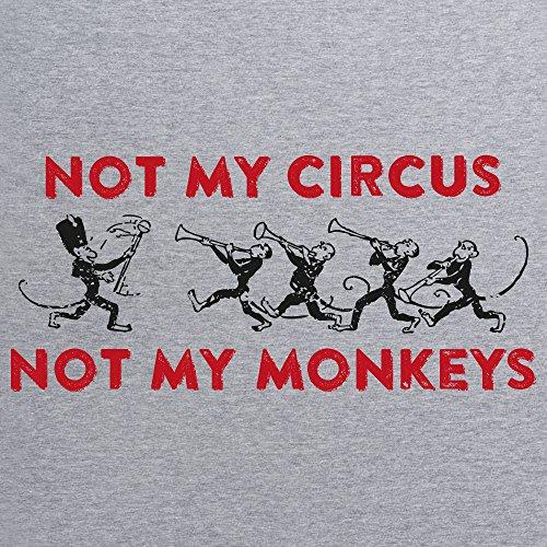 Not My Circus T-Shirt, Herren Grau Meliert