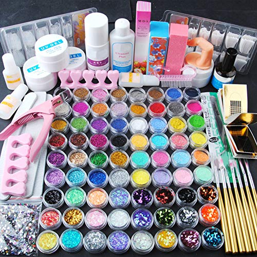 Fashion Gallery UV Gel 72pcs Decorazione Polvere Acrilica Glitter Primer Attrezzi Nail Art