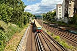 Pixblick - S-Bahn in Prenzlauer Berg in Berlin - Hochwertiges Wandbild - Hartschaumplatte 150 x 100 cm