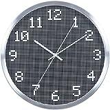 Color metal despertador simple moda reloj Shi Zhongyuan MUTE,30.5cm negro