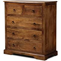 Partigya Furniture Honey Finish Furniture Chest of Drawers Rack  Chester Drawer Cabinets   Sideboards for Living Room…