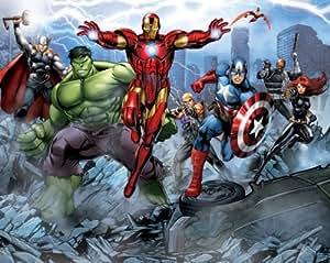 Walltastic 8 x 10 ft Avengers Assemble Wallpaper Mural