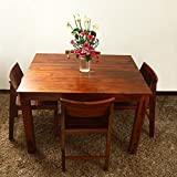 #8: Home Stratosphere Solid Wood 4 Seater Dinning Table for Living Room/Dinning Room in Teak Finish