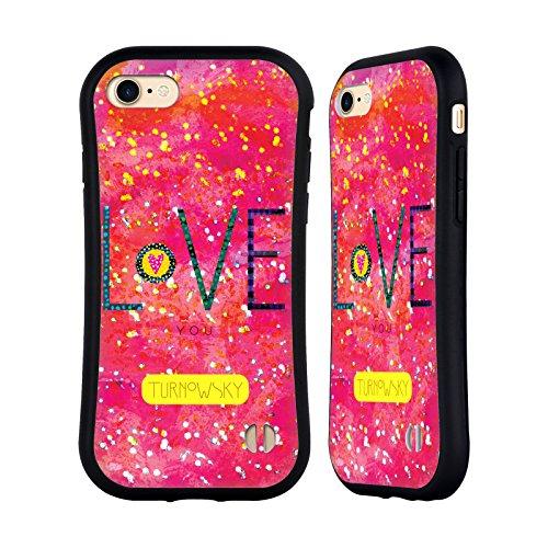 Ufficiale Turnowsky Amore Splash Case Ibrida per Apple iPhone 7 / iPhone 8 Amore