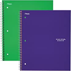 Five Star New Single Subject Writing Notebook (38217)