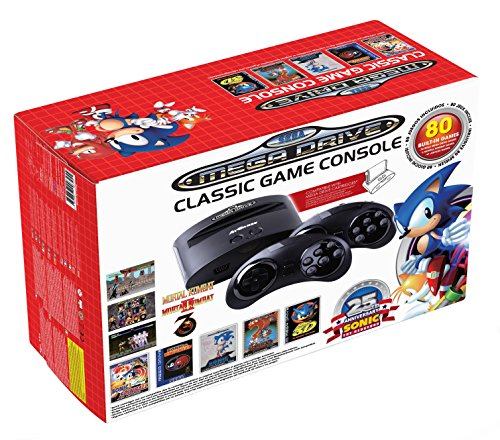 Sega JVCRETR0099 Retro-Klassik Spielekonsole inklusive 80 Spiel anthrazit