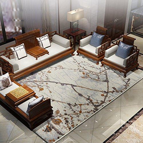 QIQIZHANG Teppich (160 * 230cm), Wohnzimmer, zeitgenössisch, europäischer Stil, Maschinenwäsche, Haushalt, Schlafzimmer, großer Teppich (Farbe : Mountain River map)