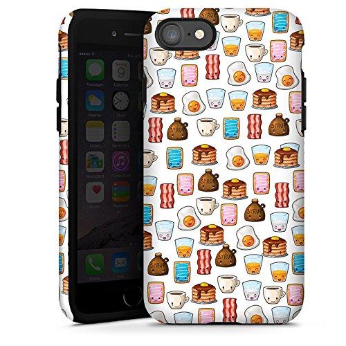 Apple iPhone X Silikon Hülle Case Schutzhülle Cute Breakfast Frühstück Kawaii Manga Style Tough Case glänzend