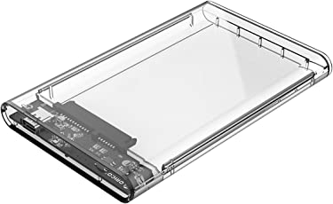 Orico 2.5Inch SATA Type-C Transparent Hard Drive Enclosure