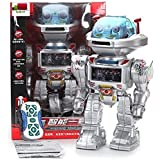 I-Robot RC Remote Controlled Robot Toy Robot Shoots Frisbees, Dances, Talks, Walks, with Sounds and Lights