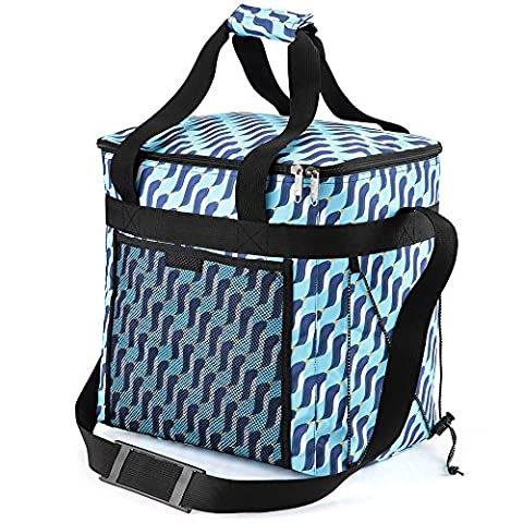 Picnic insulated Cool Bag includes 2 freezer cool packs and 2 bottle coolers Large- 28 litre