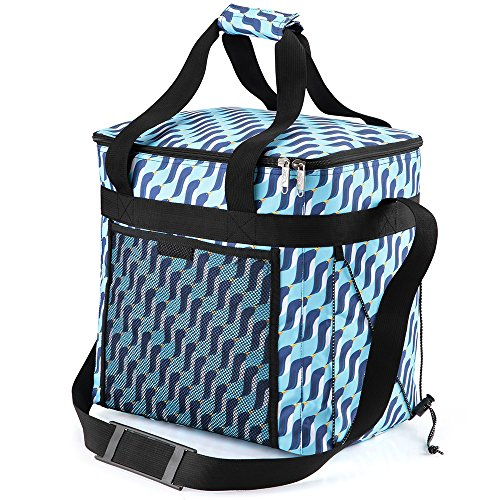 Picnic Insulated Cool Bag Includes 2 Freezer Cool Packs and 2 Bottle Coolers Large- 28 Litre (Penguin)